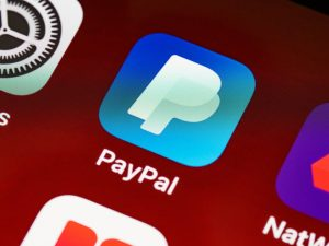 Paypal app on a smartphone