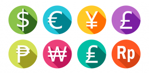 various currency symbols