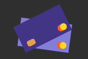 credit cards on a black surface